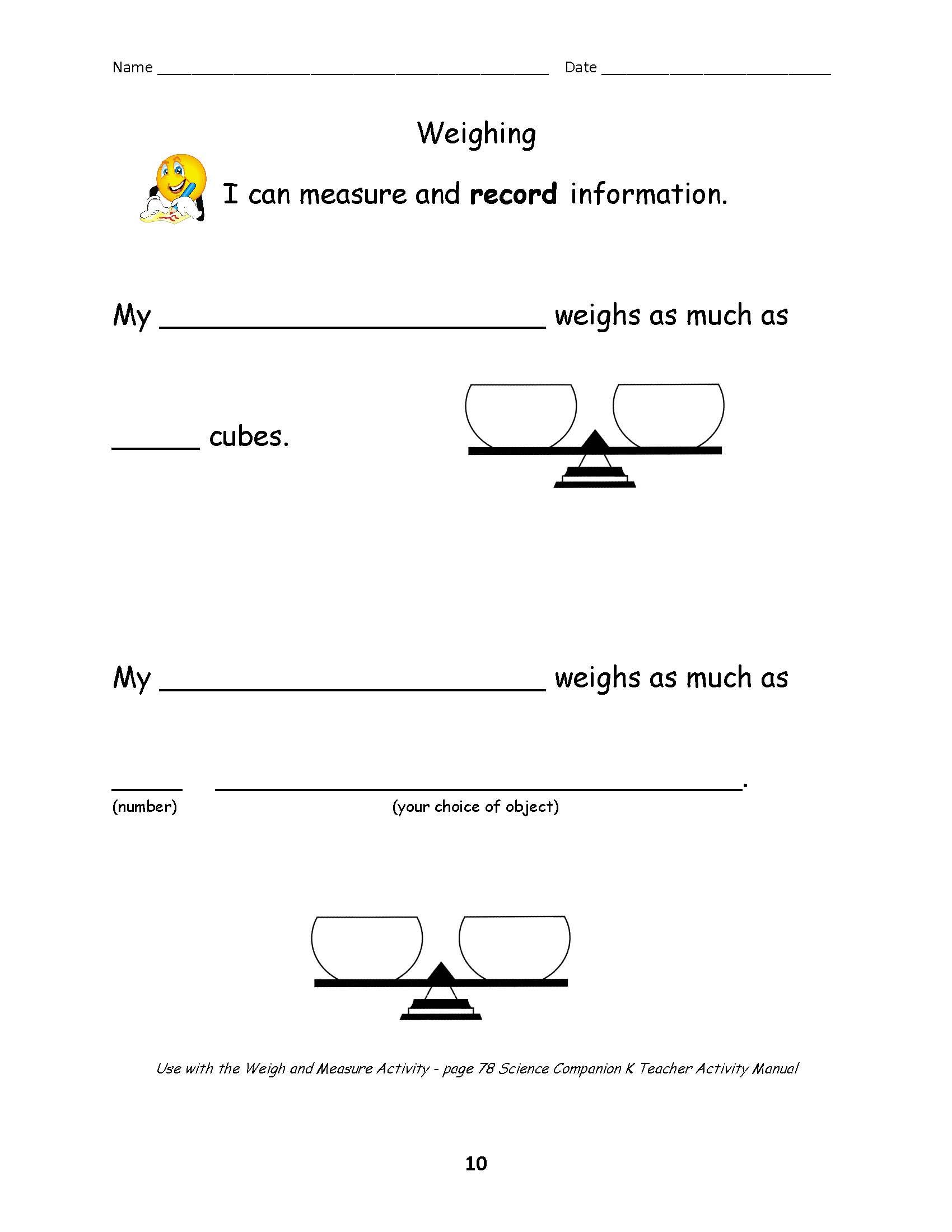 7 Best Images Of Shadow Measuring Worksheets