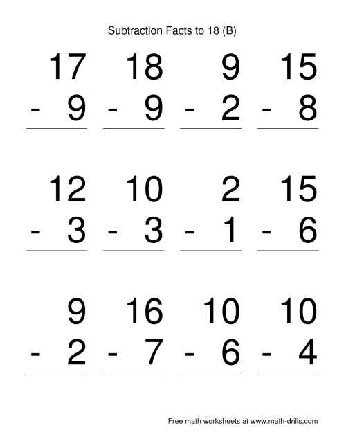 small resolution of Subtracting Worksheet Preschool   Printable Worksheets and Activities for  Teachers