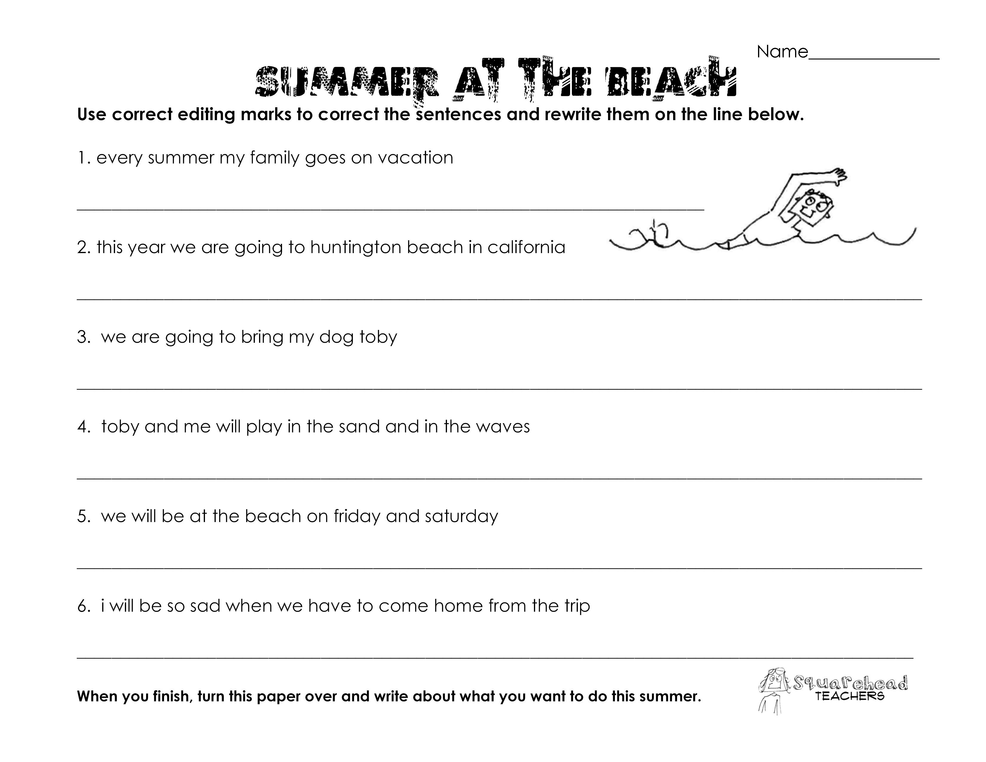 16 Best Images Of 5th Grade Grammar Worksheets