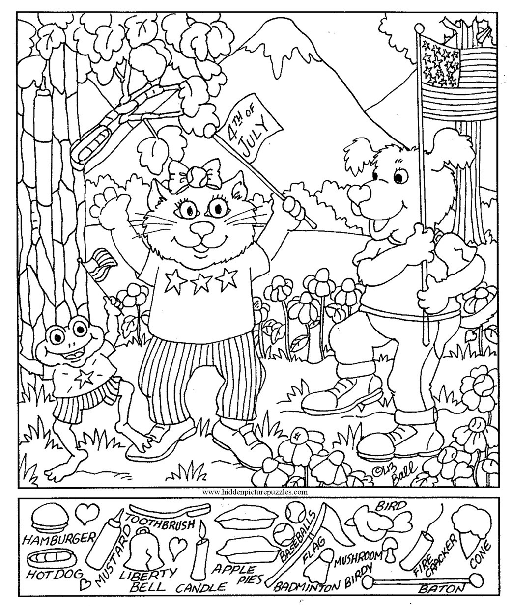 15 Best Images Of Preschool Hidden Object Worksheet