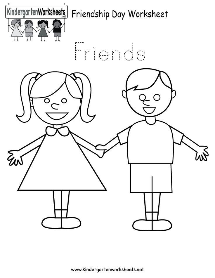 17 Best Images of Friendship Worksheets For Preschoolers