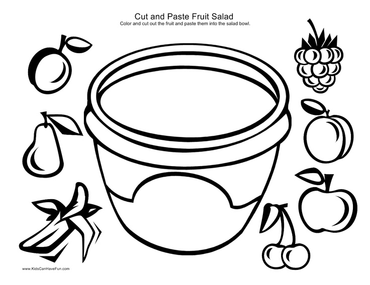 11 Best Images of Healthy Food Cut And Paste Worksheets