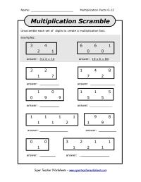 14 Best Images of Super Teacher Worksheets Multiplication ...