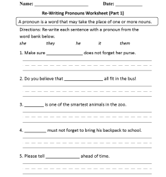 Reflexive Pronouns Worksheet With Questions   Printable Worksheets and  Activities for Teachers [ 2200 x 1700 Pixel ]