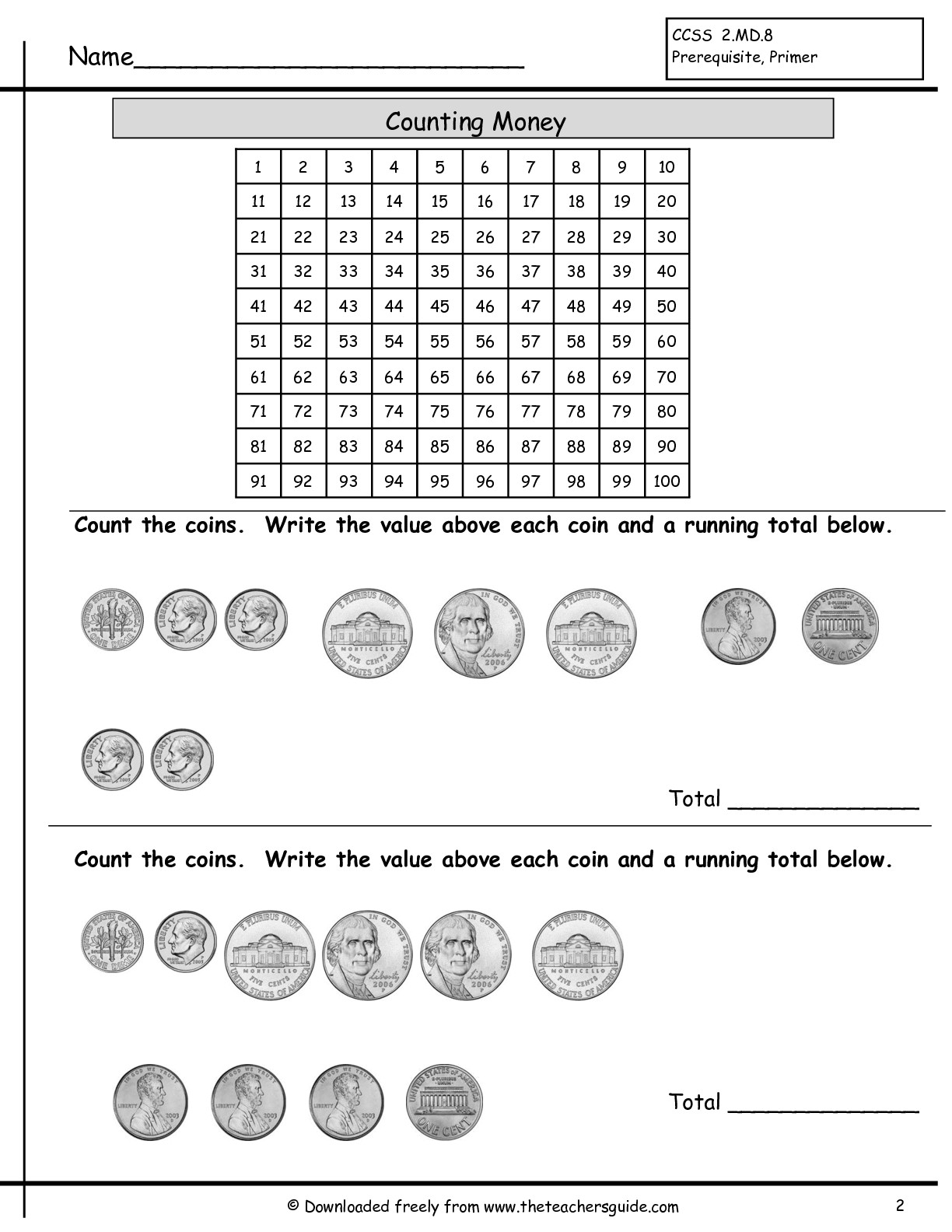 13 Best Images Of Skip Counting Money Worksheets