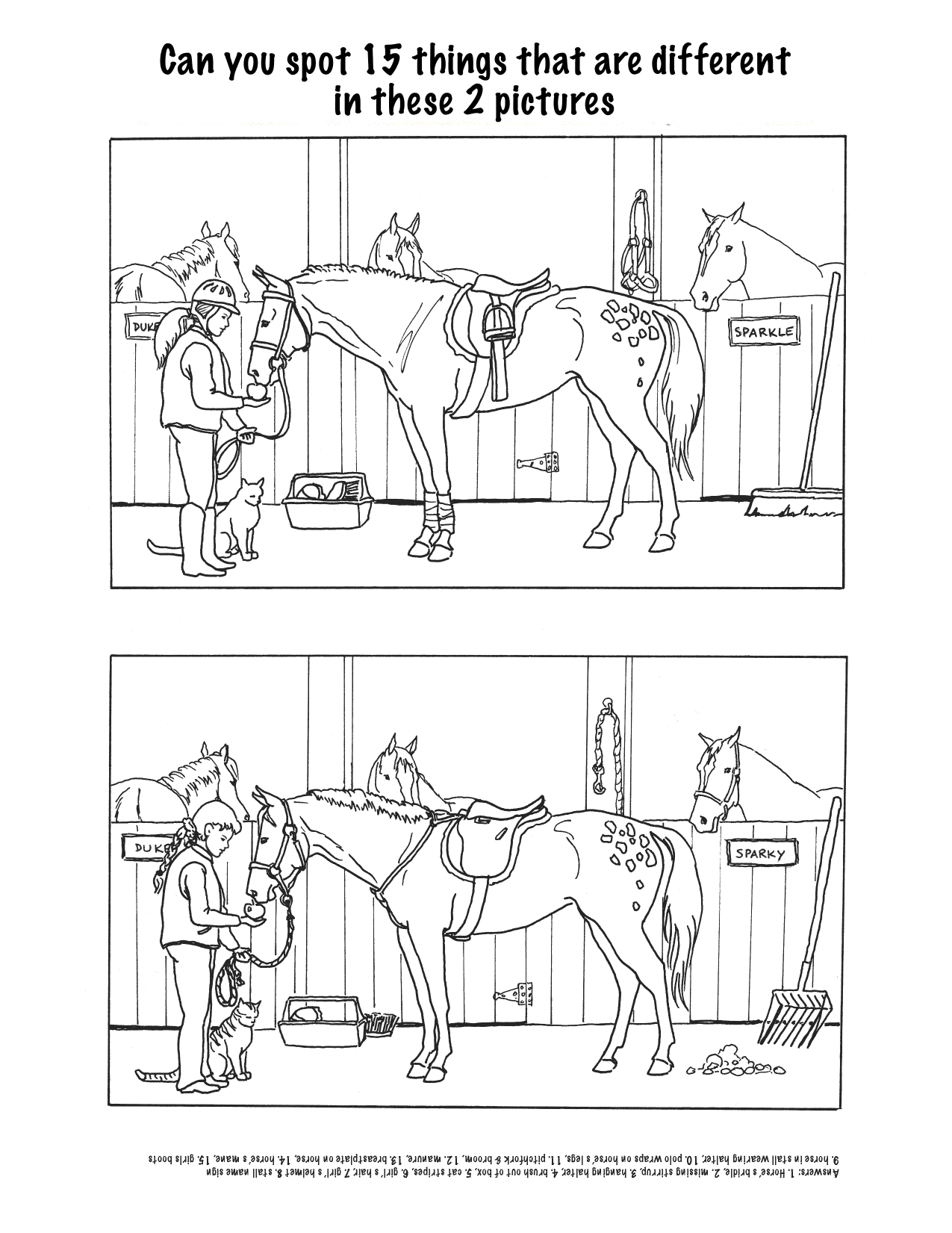 10 Best Images Of Horse Worksheets Printable