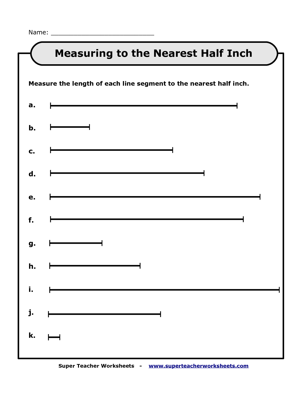 13 Best Images Of Measurement Inches Worksheets