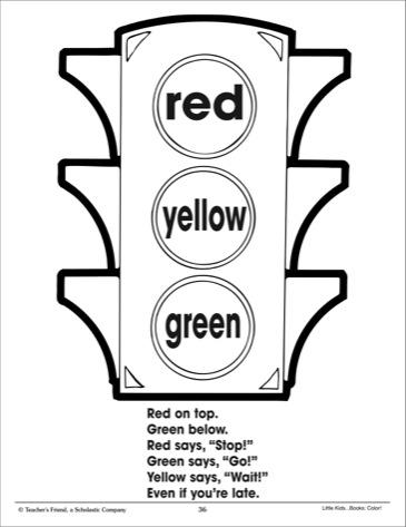 9 Best Images of Picture Traffic Light Printable Worksheet