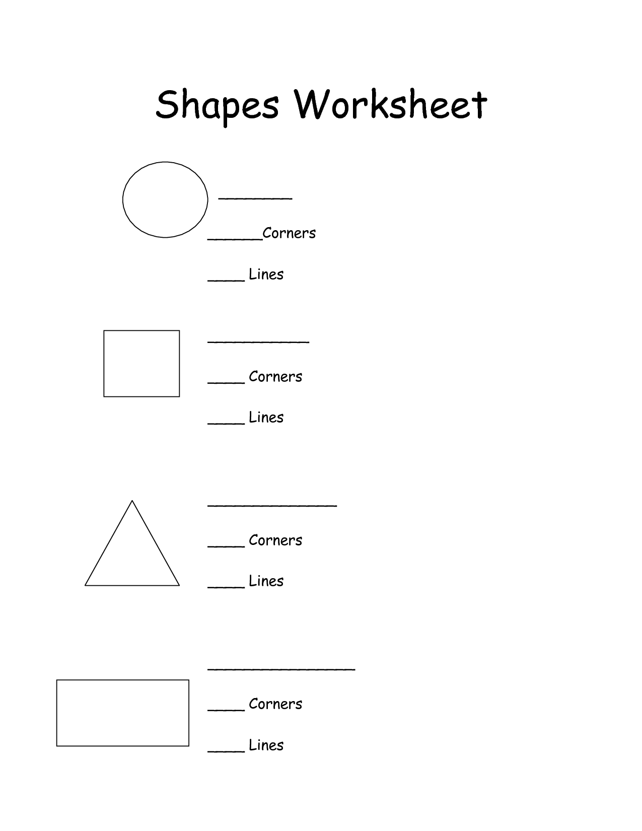 8 Best Images Of Shapes Worksheets For First Grade