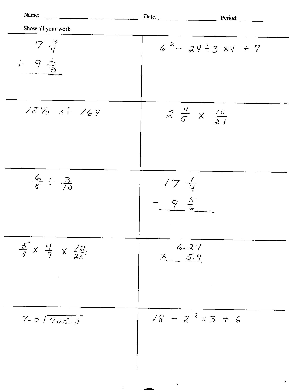 Help On 6th Grade Math Homework Free 6th Grade Math Tutoring And Help Online