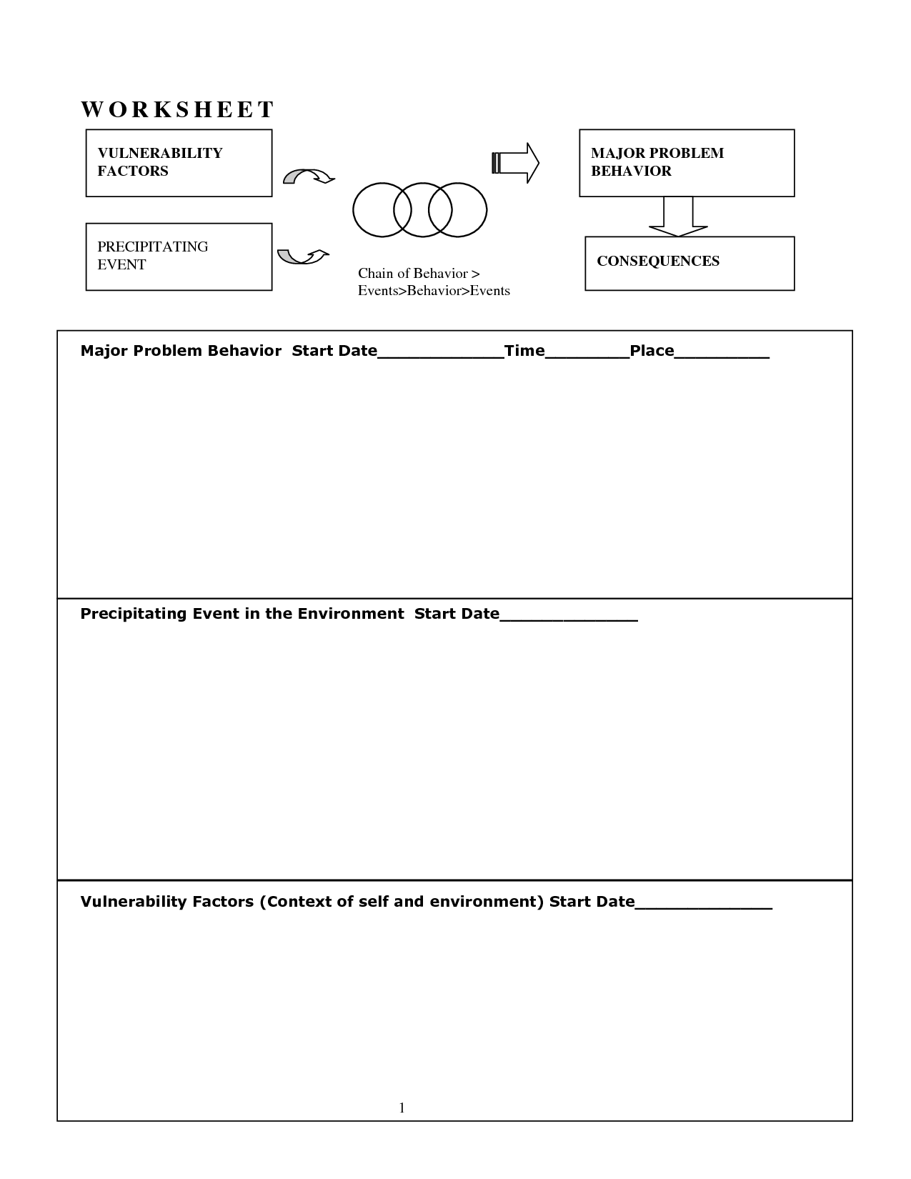 14 Best Images Of Dialectical Behavior Therapy Worksheets