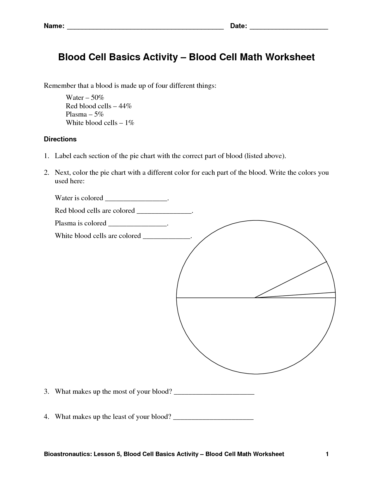 29 Functions Of Blood Cells Worksheet Answers