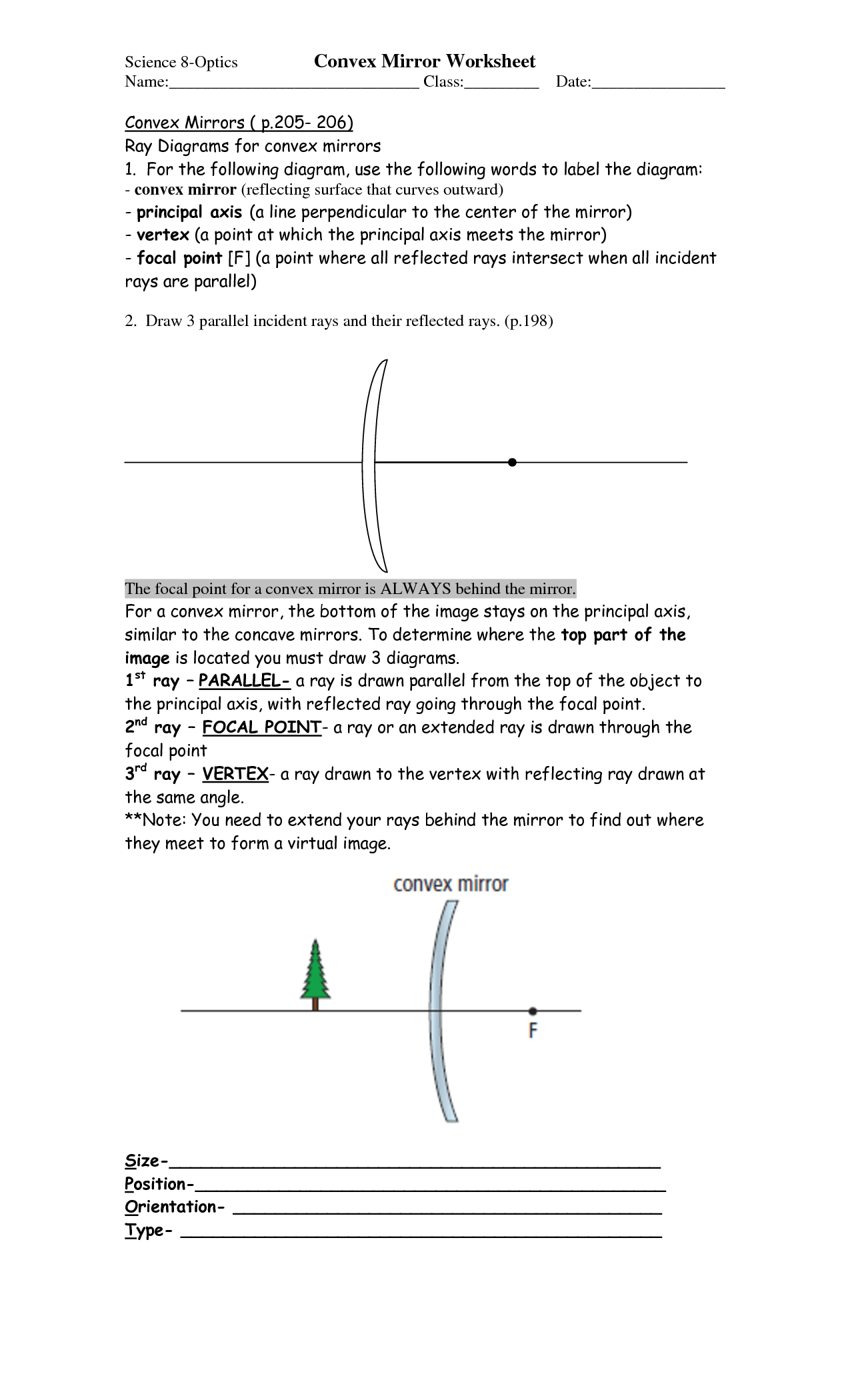 11 Best Images Of Mirrors And Reflection Worksheets
