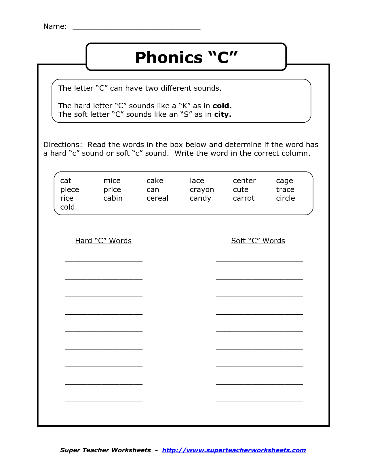 hight resolution of Hard And Soft Th Worksheet   Printable Worksheets and Activities for  Teachers