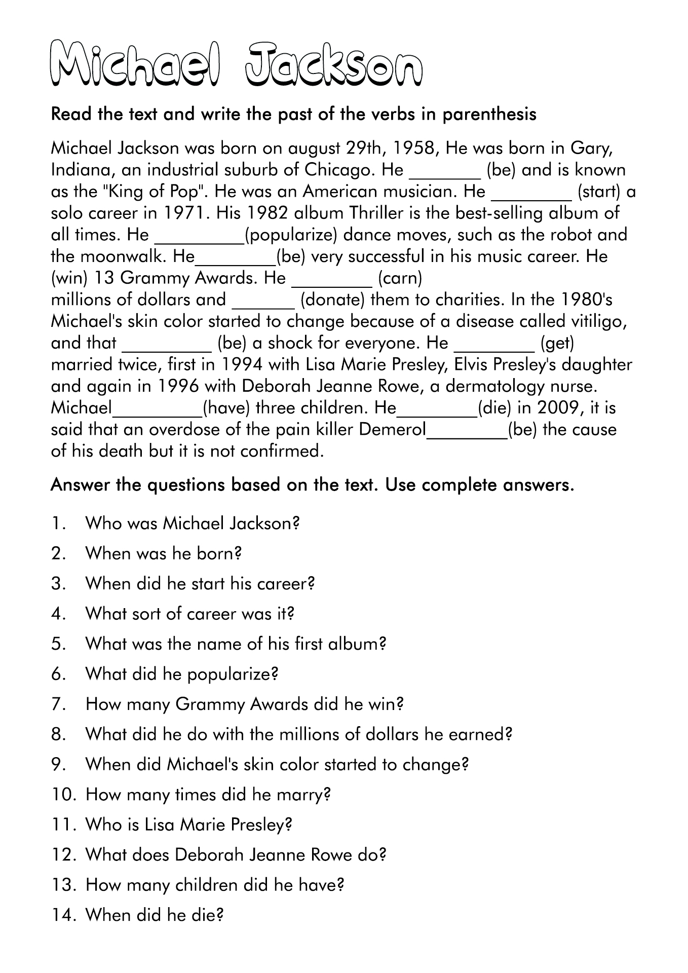 16 Best Images Of All About Me Worksheet Teenagers