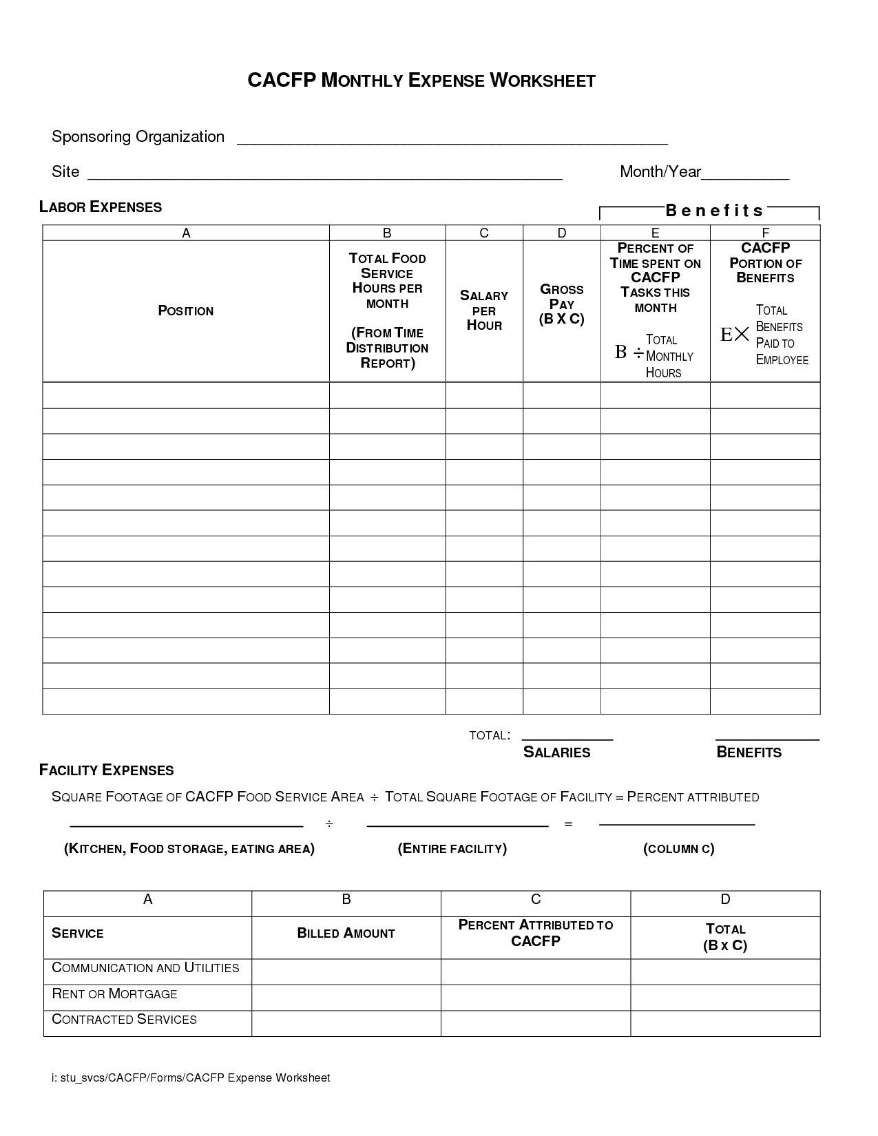 17 Best Images Of Budget Easy Worksheet To Use