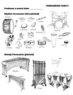 10 Best Images of Music Instruments Elementary Worksheet