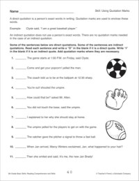 18 Best Images of Quotation Mark Worksheets For Grade 2 ...