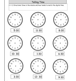 Time Worksheet Hour And Half Hour   Printable Worksheets and Activities for  Teachers [ 1584 x 1224 Pixel ]