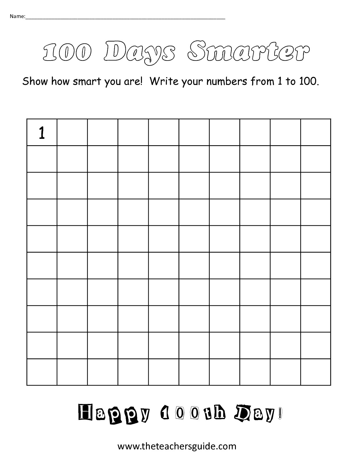 12 Best Images Of Write To 100 Worksheet