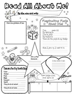 18 Best Images of Free Printable All About Me Template