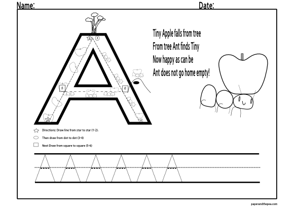 14 Best Images of Preschool Capital Letter Worksheets