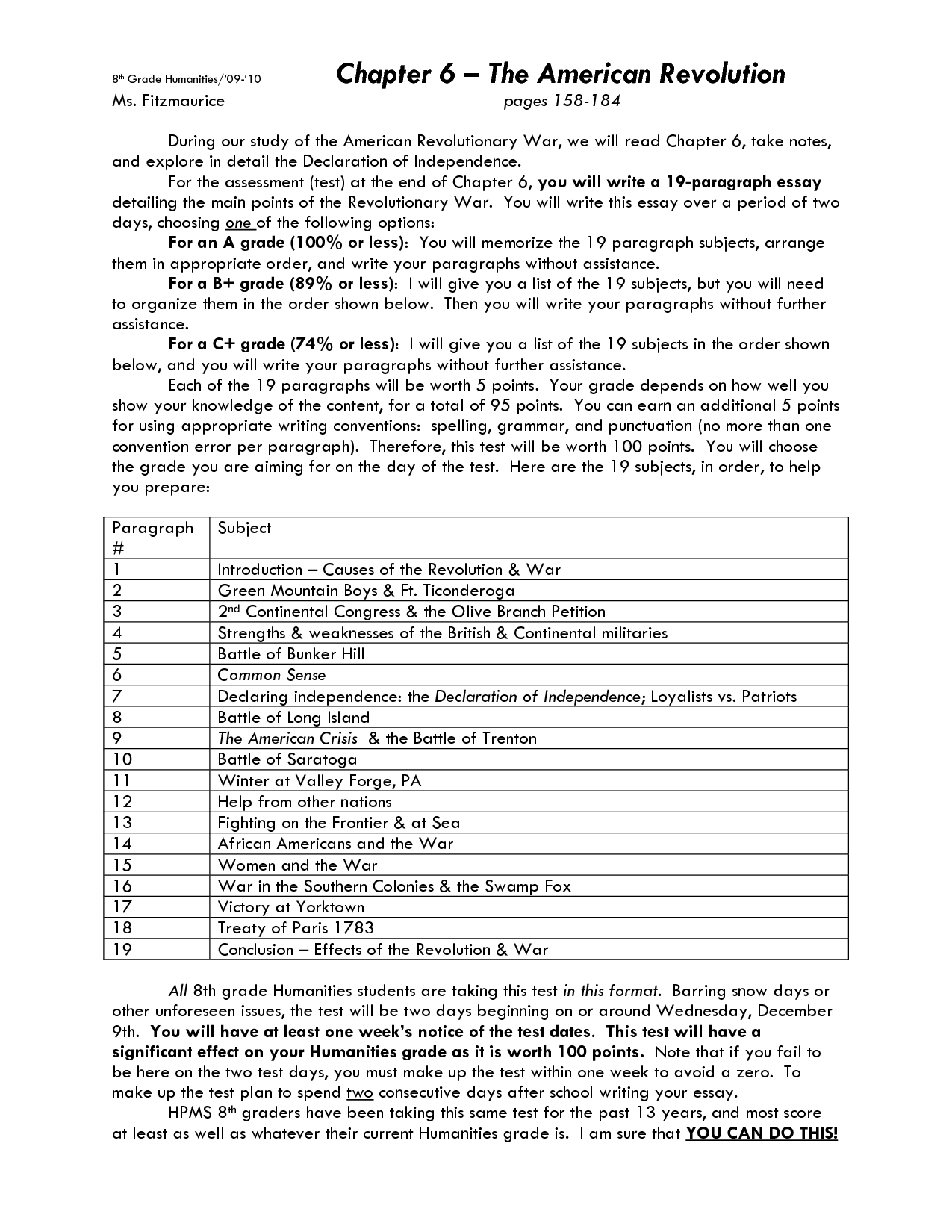 13 Best Images Of Revolutionary War Worksheets 5th Grade