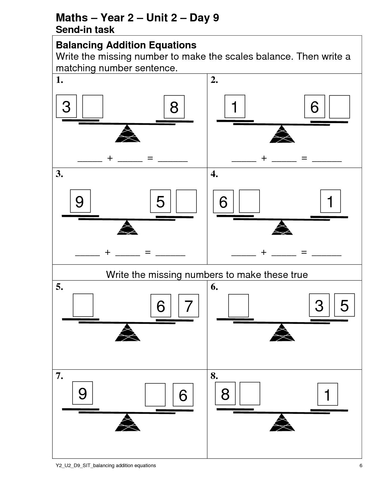 11 Best Images Of Missing Number Addition Worksheets