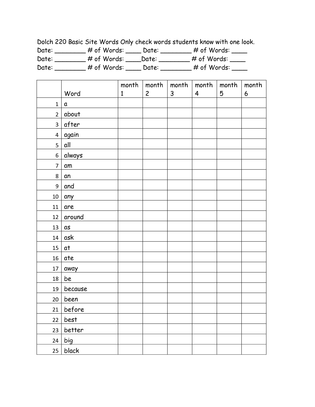 13 Best Images Of Fry Sight Words Activities Worksheets