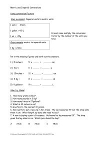 12 Best Images of Metric Length Worksheets - Metric Unit ...