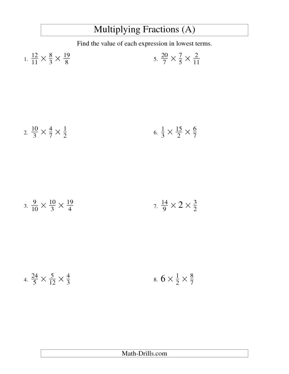 medium resolution of Multiplying Fractions Puzzle Worksheet   Printable Worksheets and  Activities for Teachers