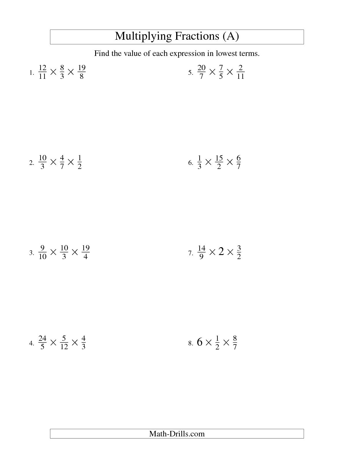 hight resolution of Multiplying Fractions Puzzle Worksheet   Printable Worksheets and  Activities for Teachers