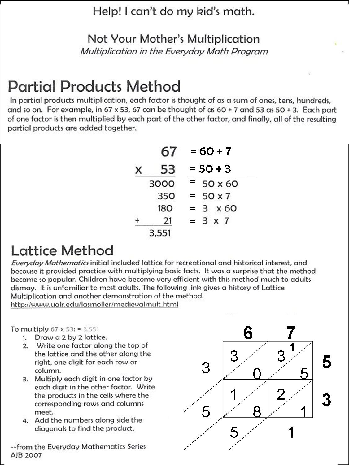 10 Best Images Of Partial Products Multiplication