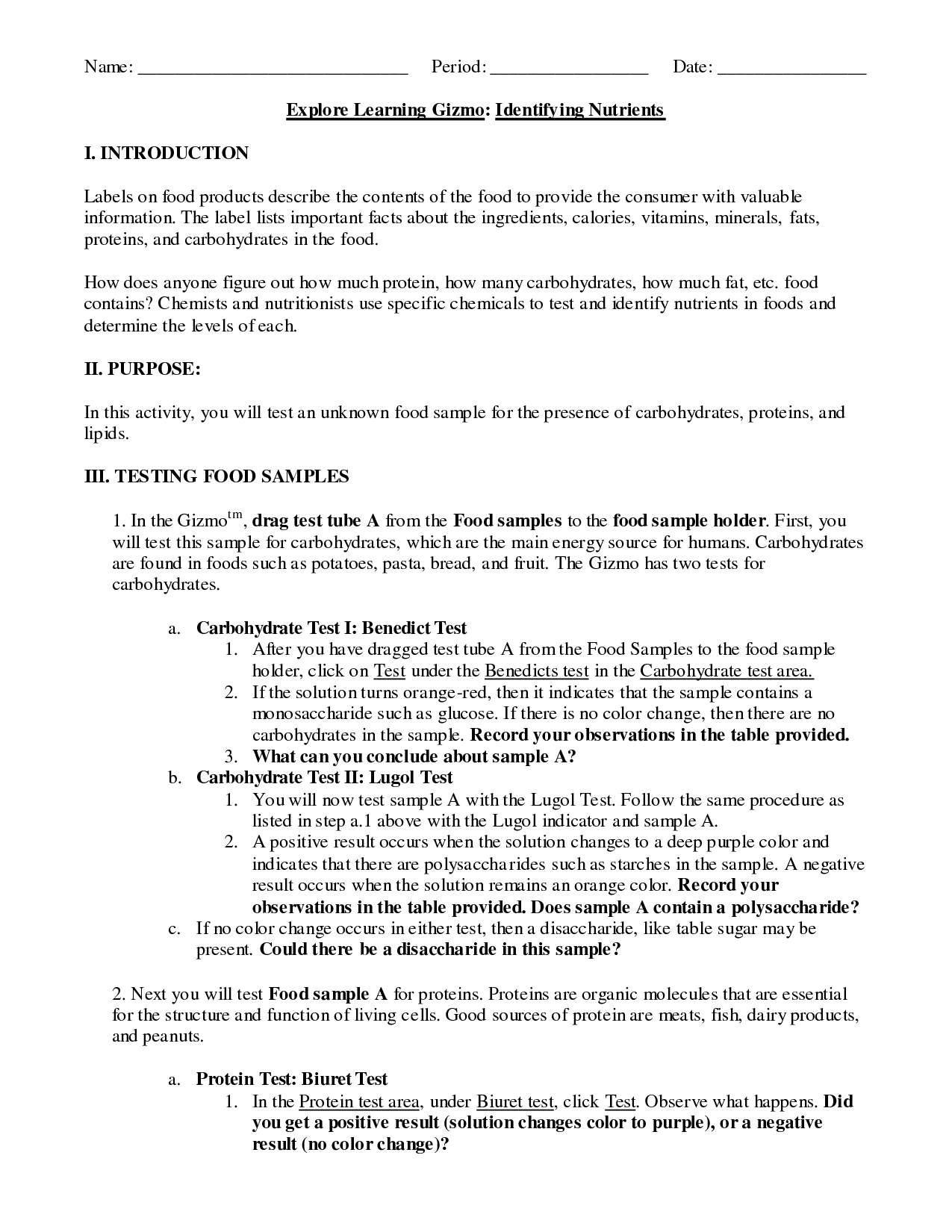 16 Best Images Of Organic Macromolecules Worksheet Answer