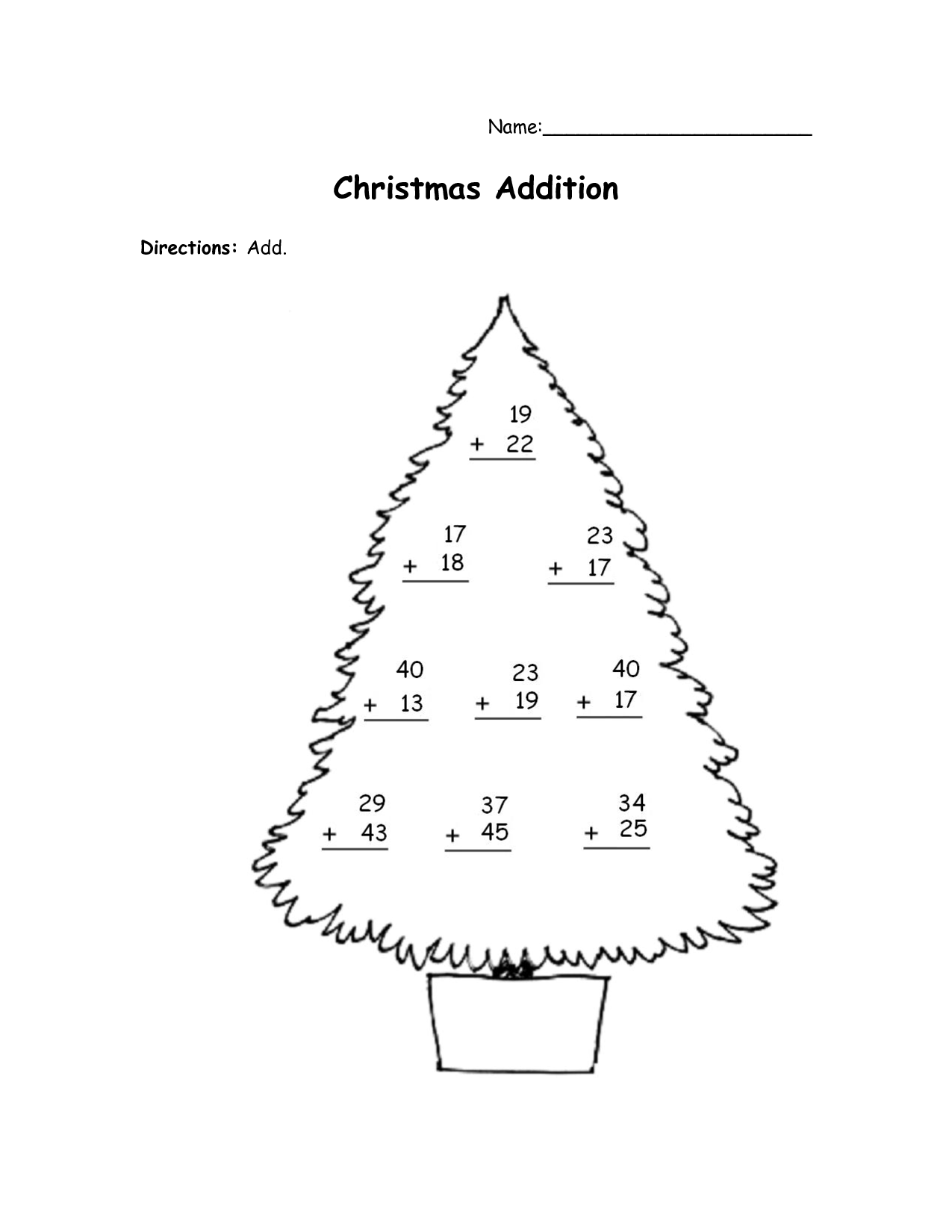 9 Best Images Of Christmas Math Activity Worksheets