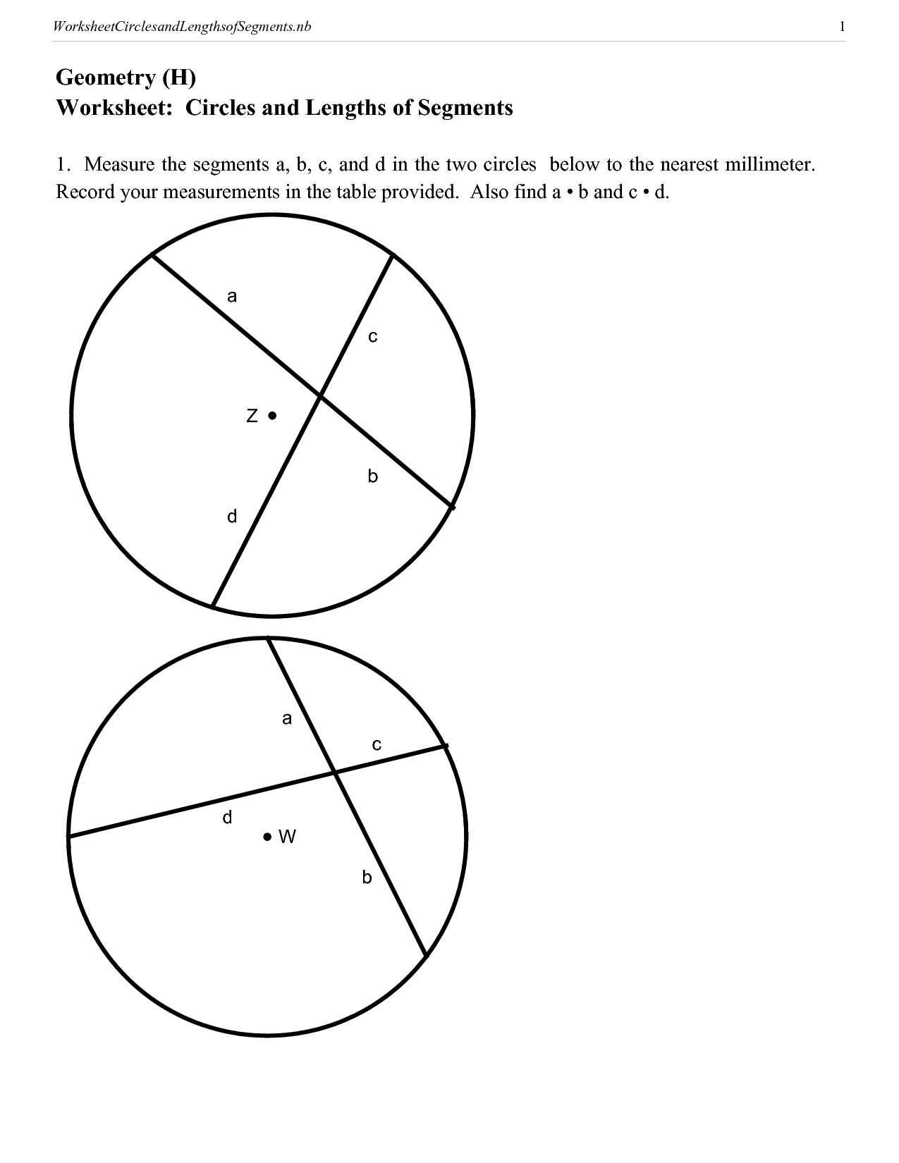 8 Best Images Of Arc Geometry Circle Worksheets And