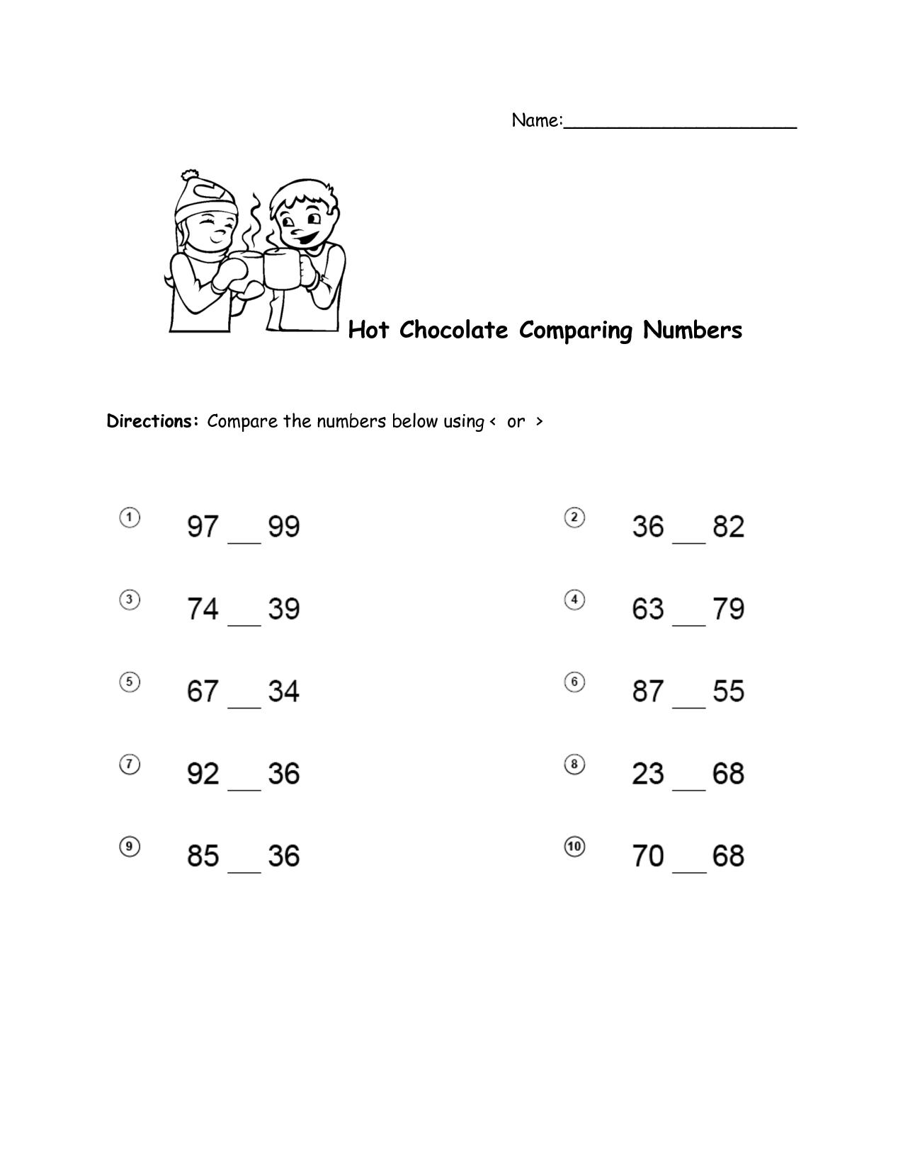 9 Best Images Of Comparing Rational Numbers Worksheet