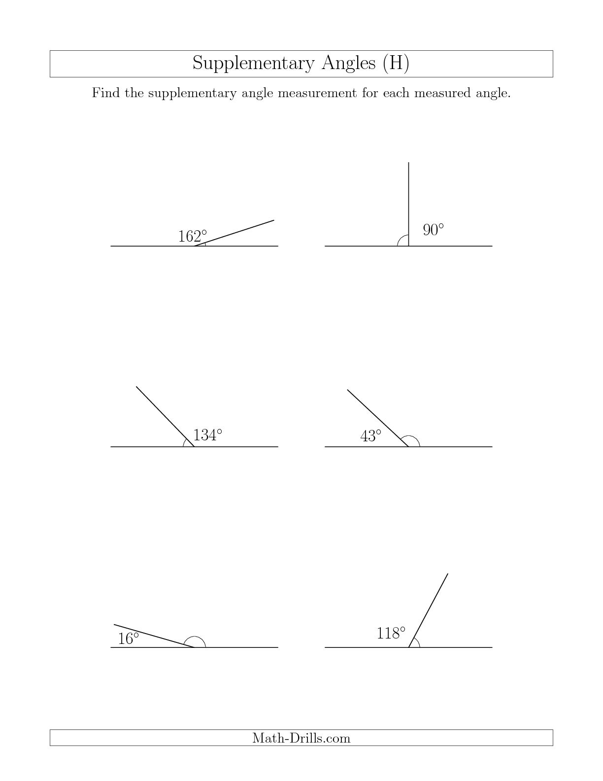 13 Best Images Of Three Types Worksheet Angles