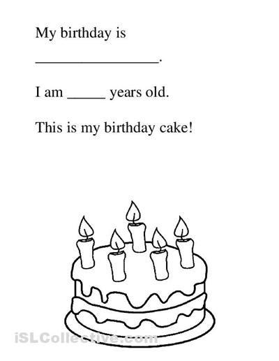 14 Best Images of Birthday Worksheets For Kindergarten