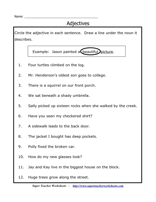 small resolution of Underline Noun And Verbs Worksheet   Printable Worksheets and Activities  for Teachers