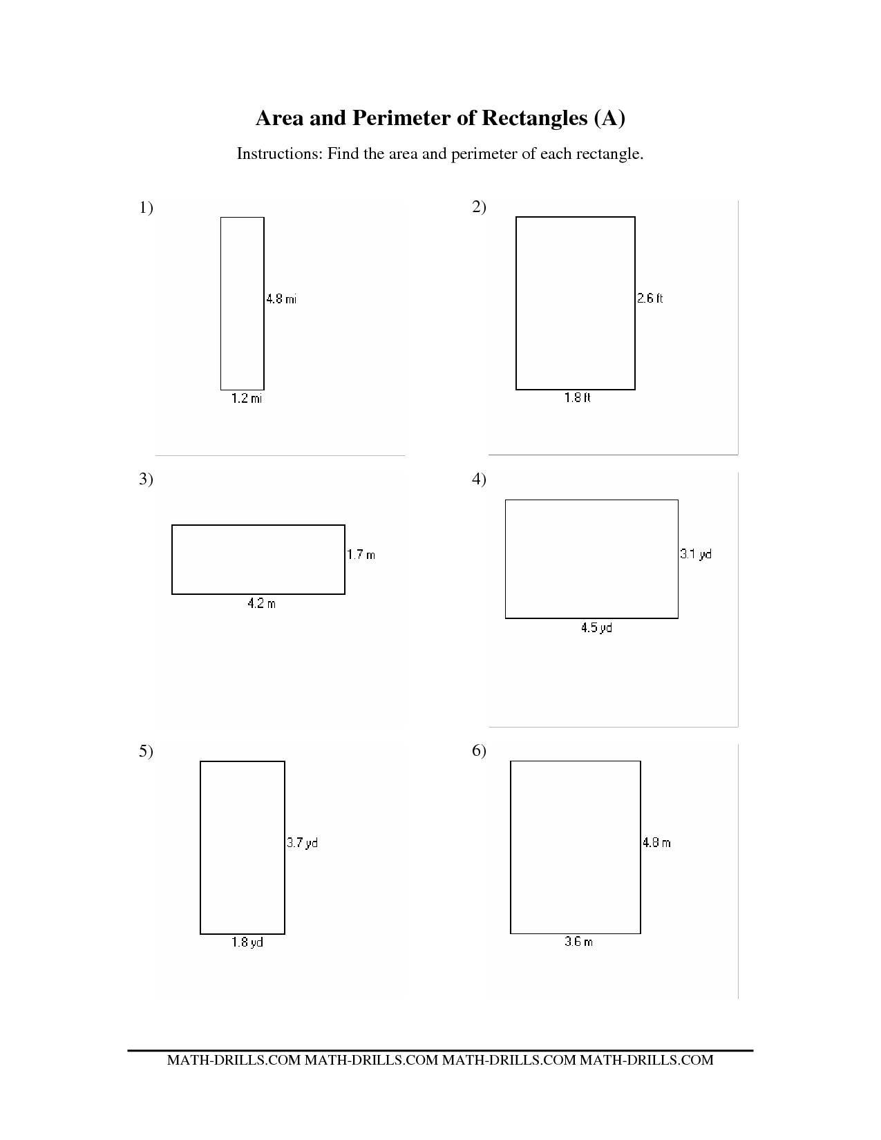 6 Best Images Of Area Of A Rectangle Worksheet