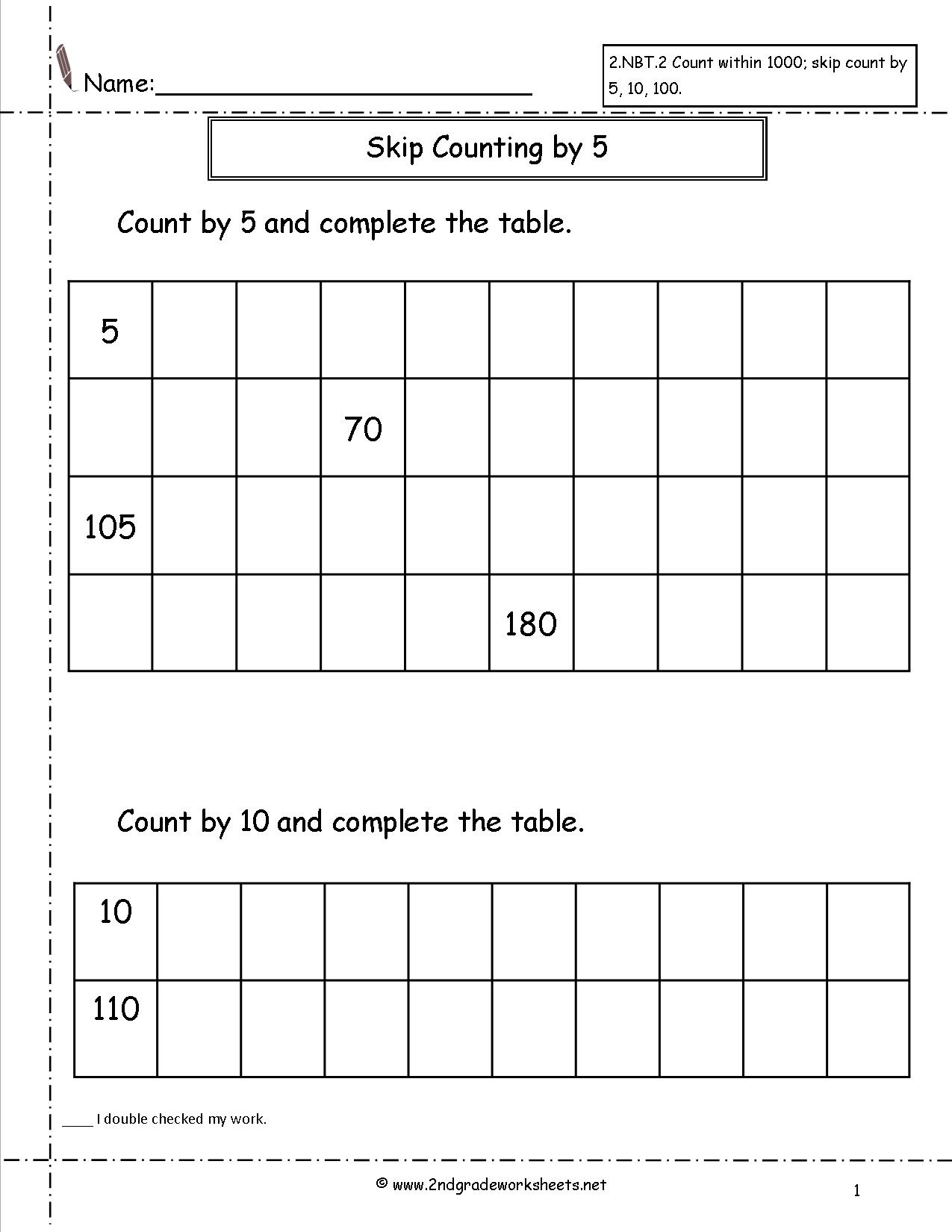 12 Best Images Of Counting By 10s Worksheet