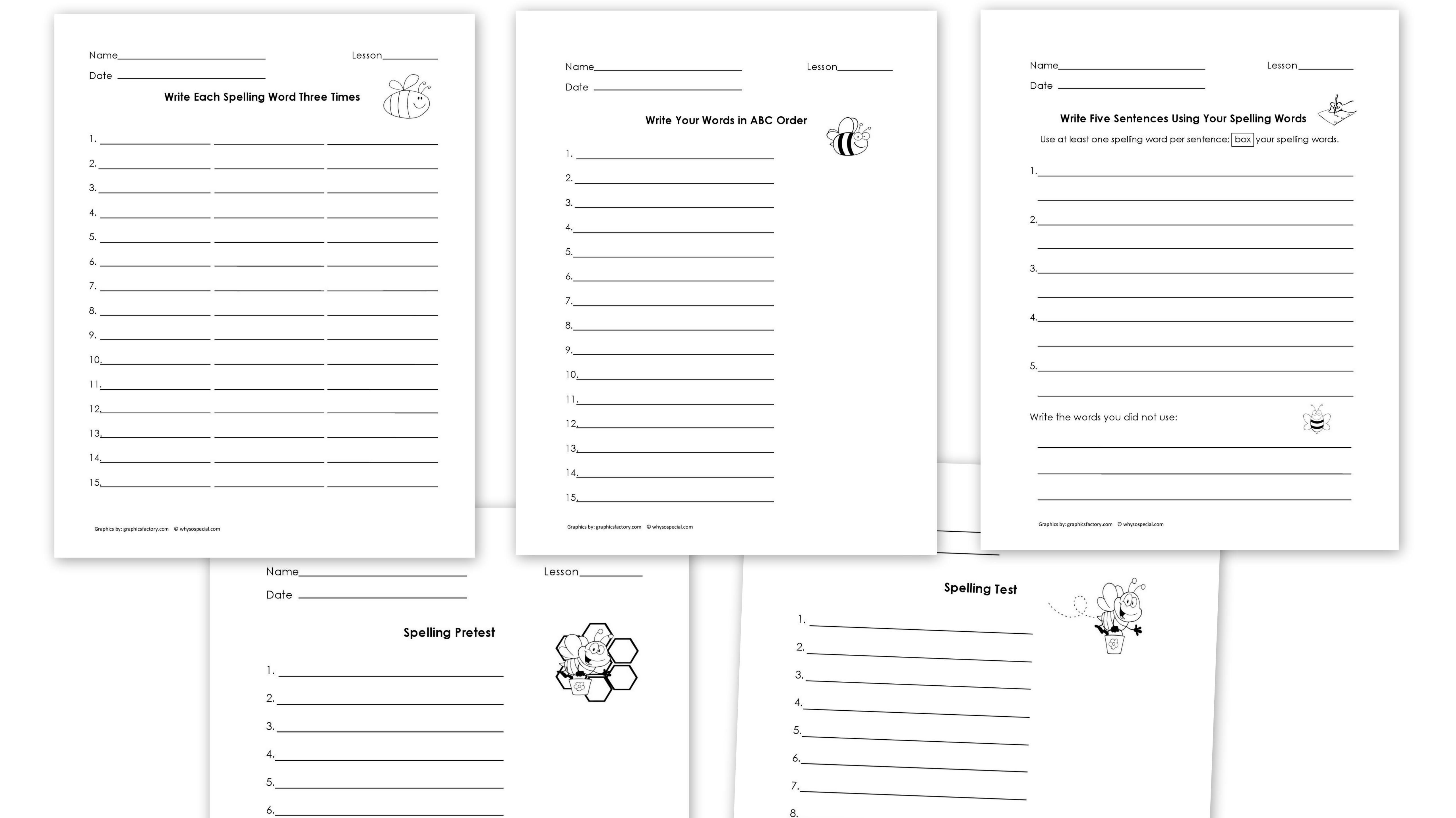 14 Best Images Of Practice Spelling Words Worksheets