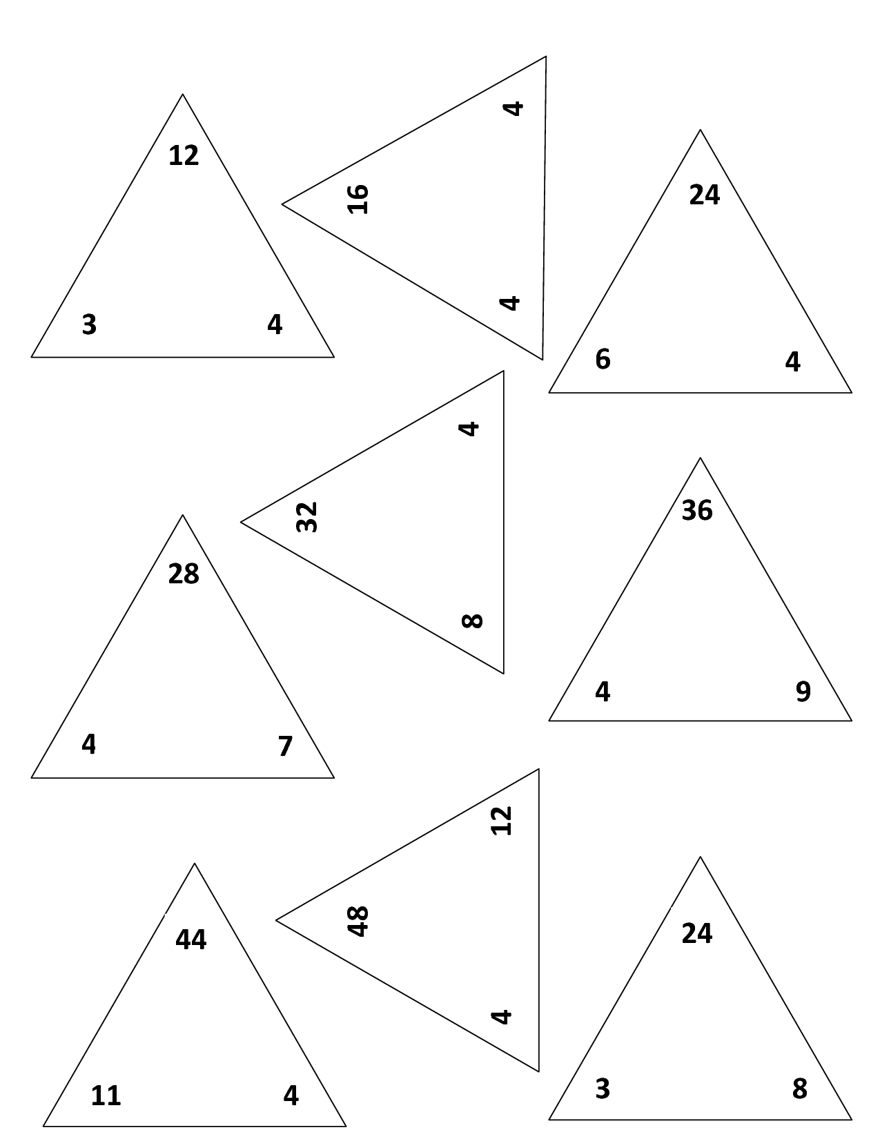 14 Best Images Of Multiplication Triangles Worksheets