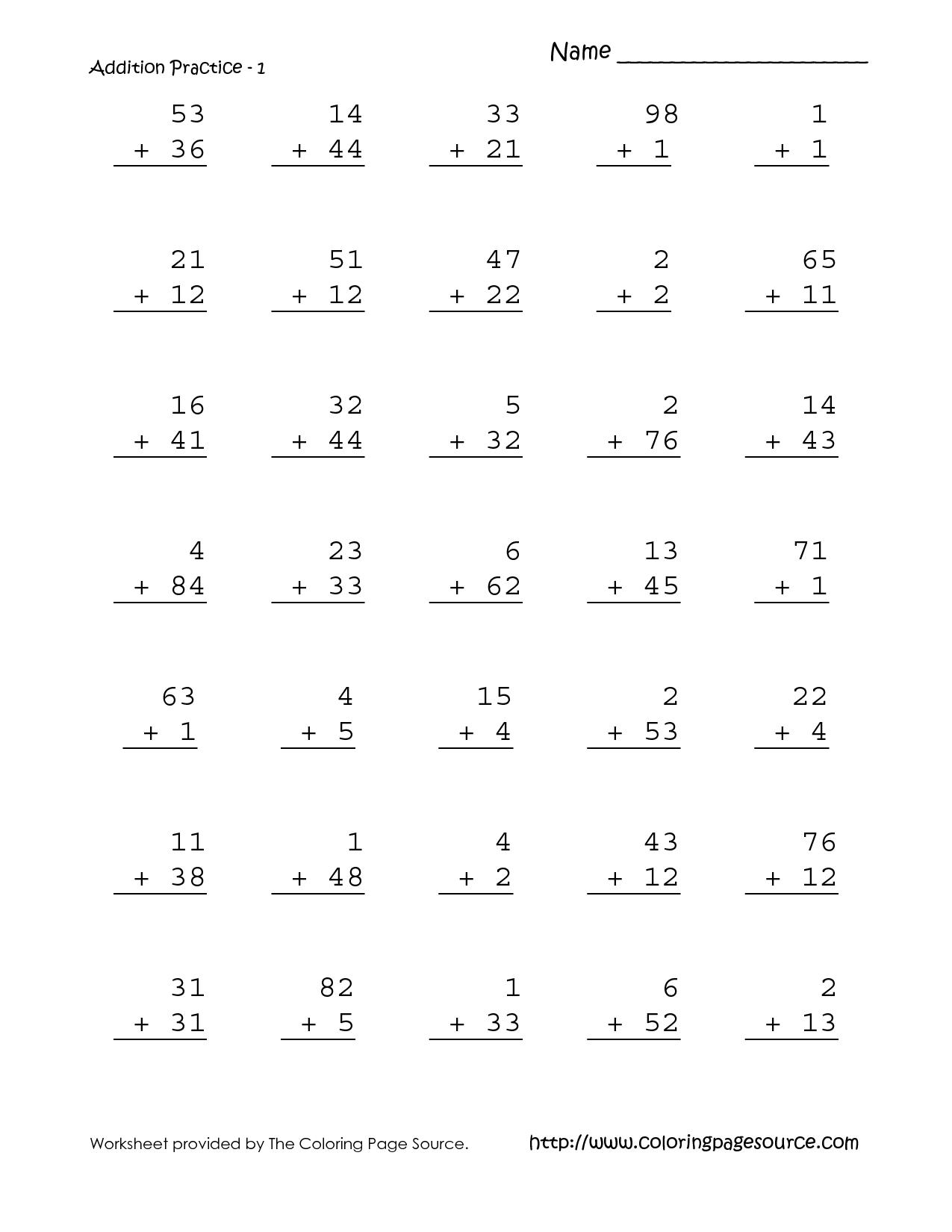 9 Best Images Of First Grade Math Homework Worksheets