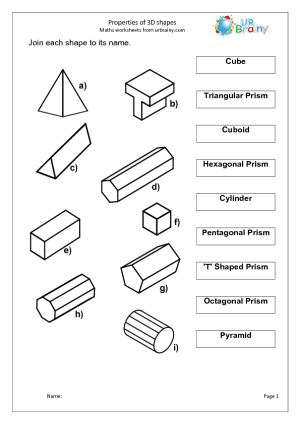 5 Best Images of Geometric Shapes Matching Worksheet