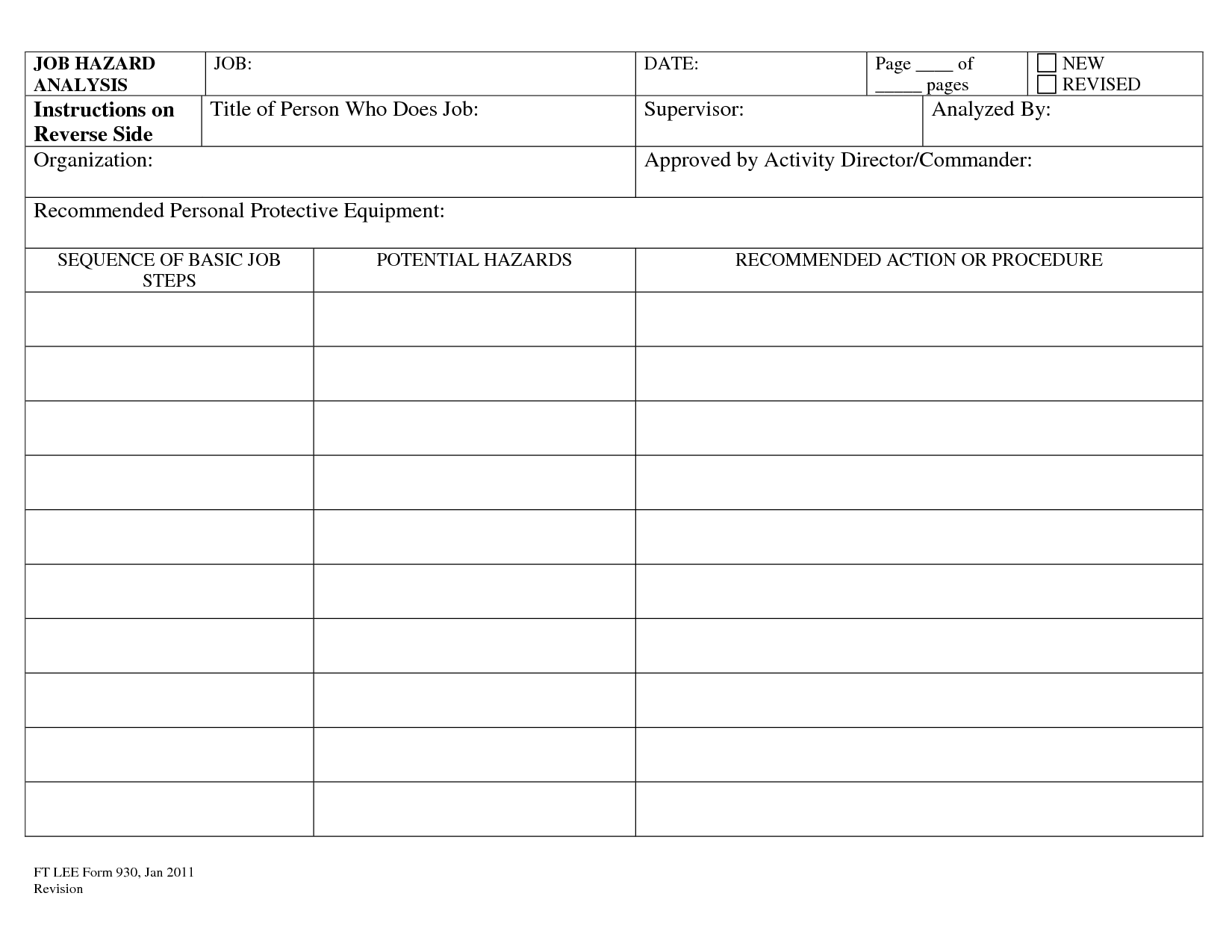 14 Best Images Of Jobysis Template Worksheet