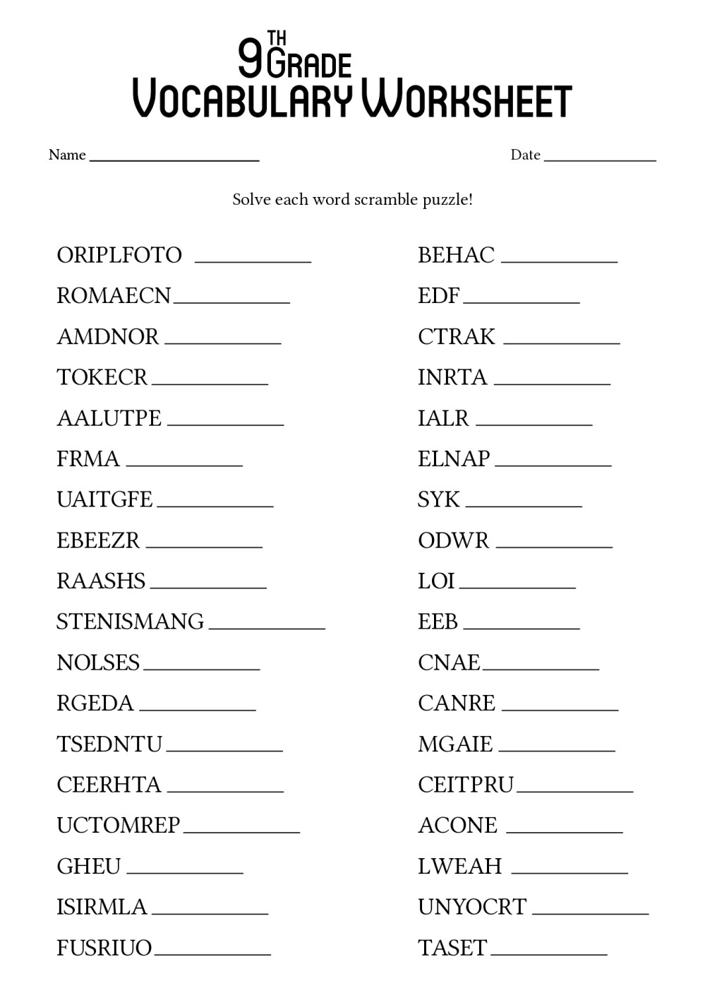 medium resolution of 9th Grade Map Worksheet   Printable Worksheets and Activities for Teachers