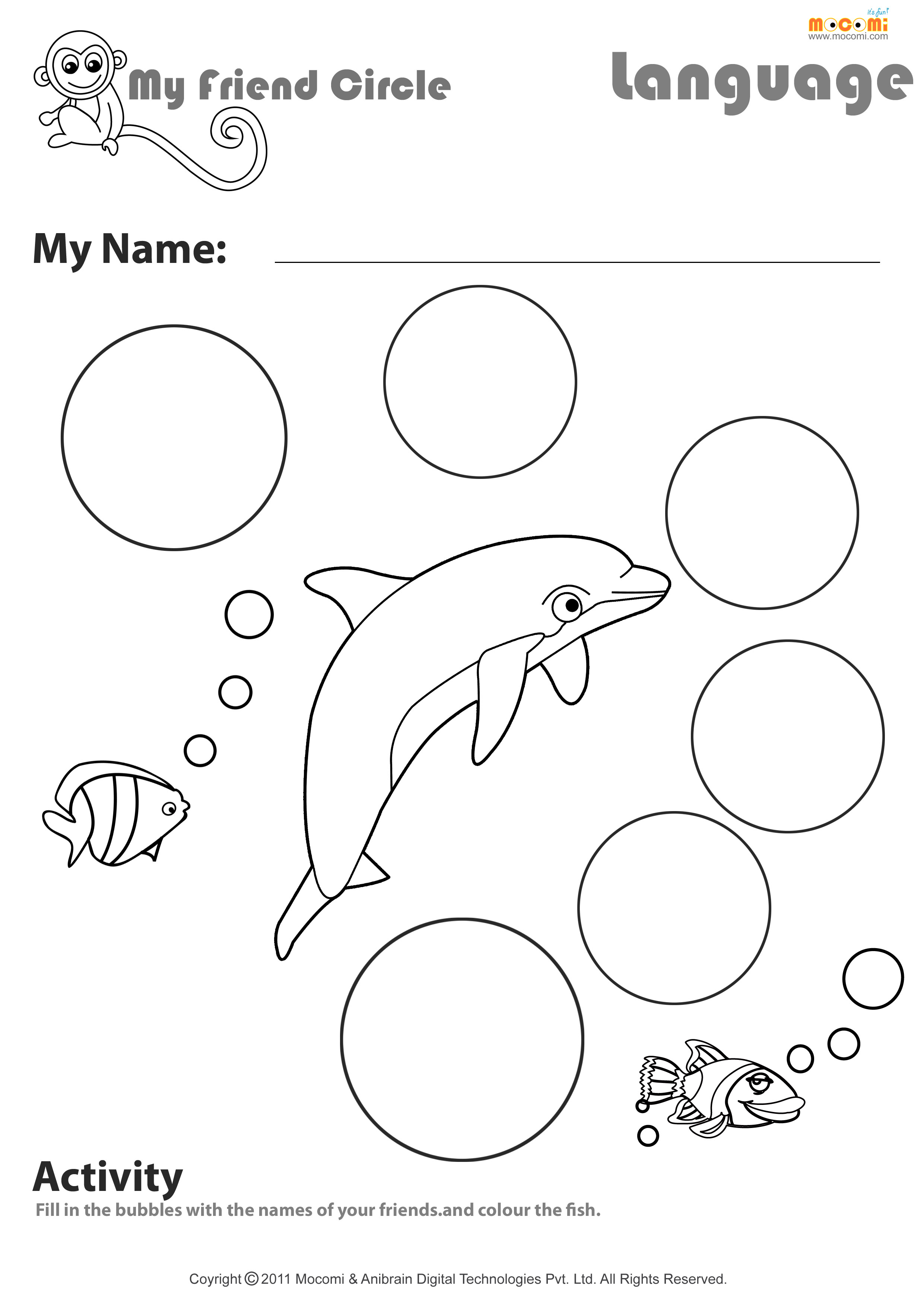 9 Best Images Of Circle Worksheets For Toddlers