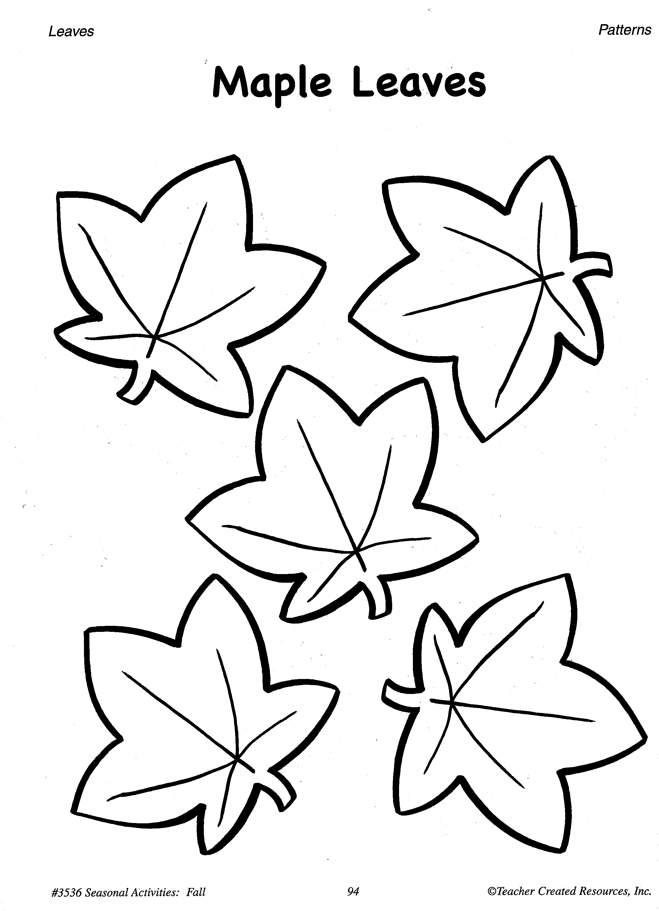 11 Best Images Of Autumn Leaf Patterns Worksheets